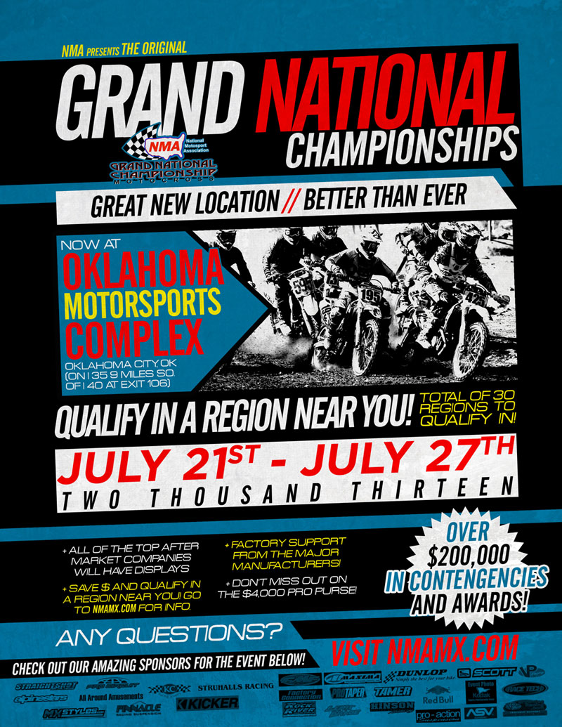 2013 NMA Grand Nationals Flyer